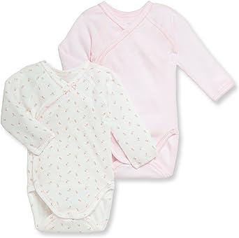 Petit Bateau Baby Girl Long Sleeve Dot Print Bodysuit Blouse