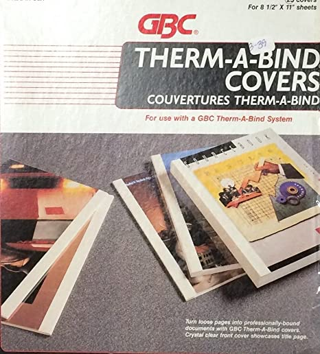 amazon com therm a bind covers copy binder spine white pack of 25