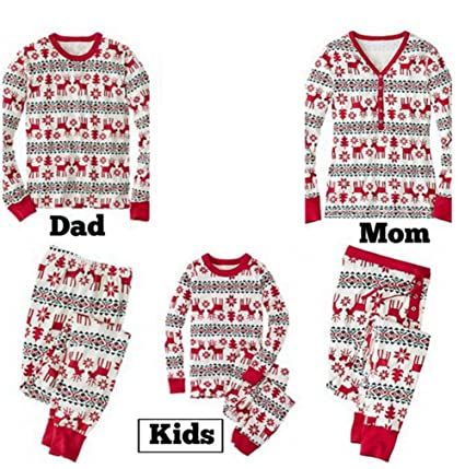 1c888369b QIANXIAN Chistmas Pajamas Family vacation Chistmas Pajamas Sleep Set ...