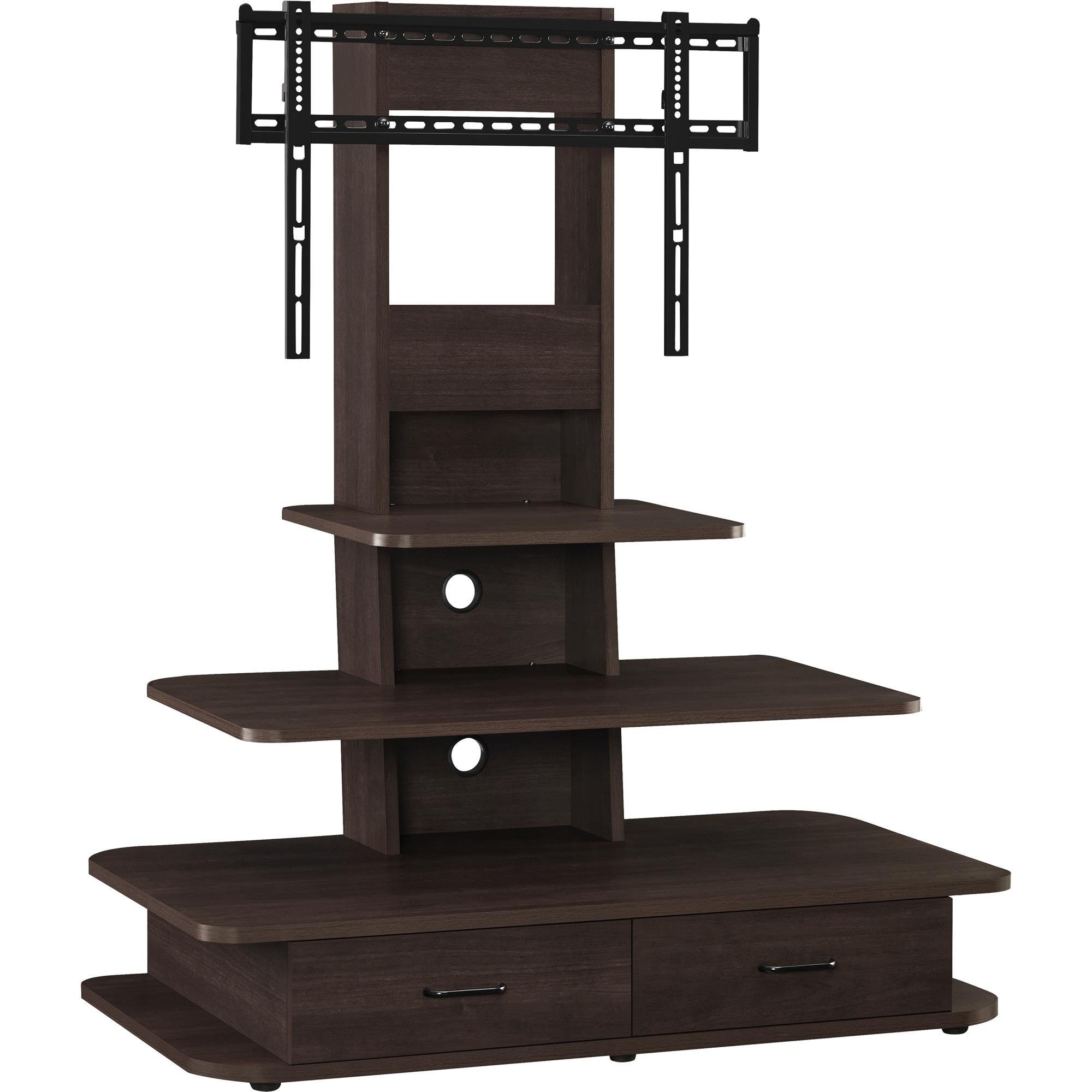 Ameriwood Home Galaxy TV Stand with Mount and Drawers for TVs up to 70'' Wide, Espresso by Ameriwood Home