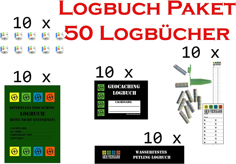 Geocaching Logbücher Staffelpreis Logstreifen Paket Set Petling Filmdosen Nano
