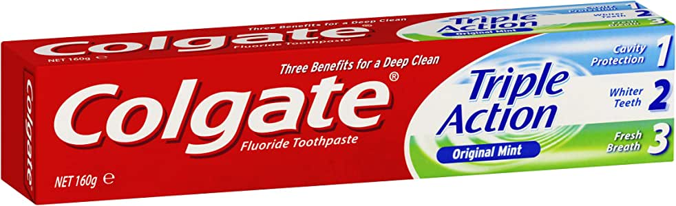 Colgate Triple Action Cavity Protection Fluoride Toothpaste Original Mint, 160g