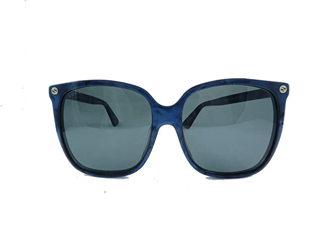 7dbf58c3563 Image Unavailable. Image not available for. Colour  Gucci GG0022SA Sunglasses  003 Blue Grey Lens 57 mm