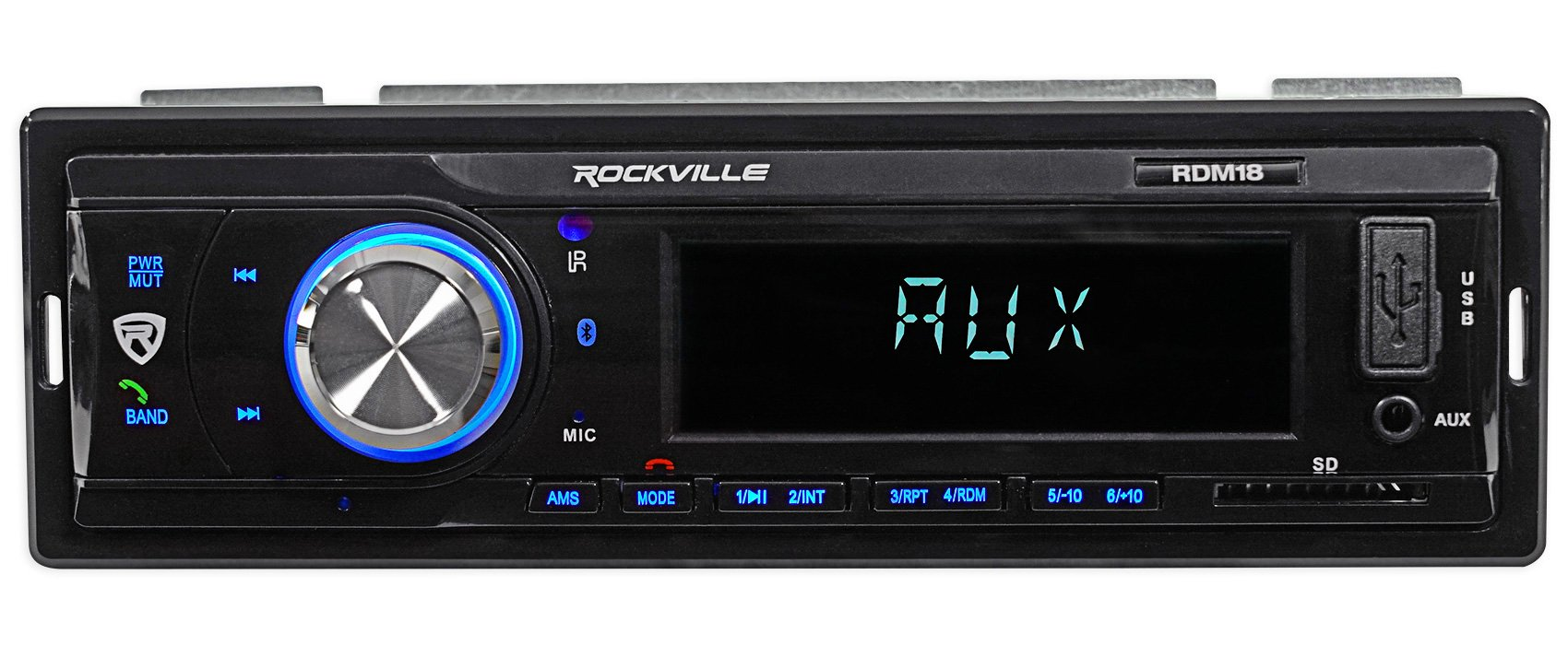 Digital Media Receiver/Radio+Front Speakers+Wire Kits For 87-95 JEEP WRANGLER YJ by Rockville (Image #4)