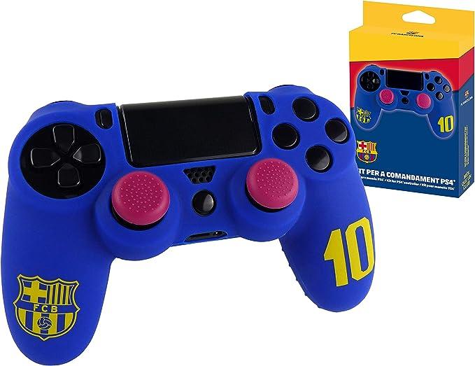 Subsonic - Funda de silicona para mando y Carcasa blanda antideslizante con Thumb grips caps de precisión para joysticks [licencia oficial FCB FC Barcelona] (PS4): Amazon.es: Videojuegos