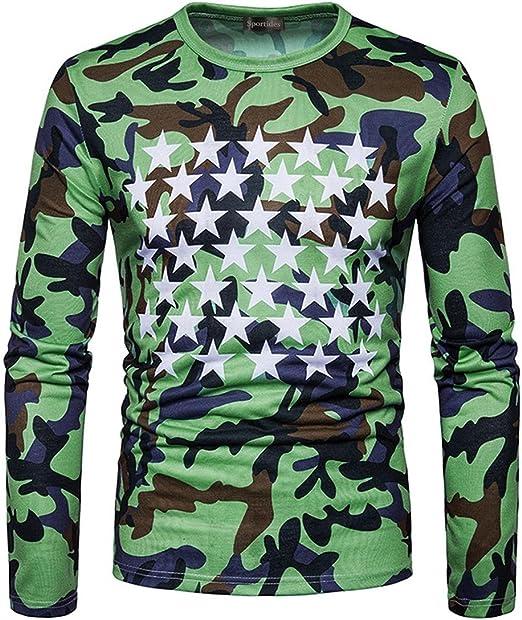 Men/'s Camouflage Slim Fit Dress Shirt Men Long Sleeve Casual Shirts Tee Tops UK