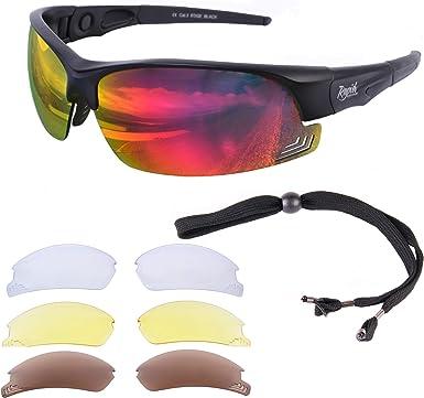 Sports Sunglasses Polarized UV400 New Anti-Glare Polycarbonate 3 Lens 5 Style