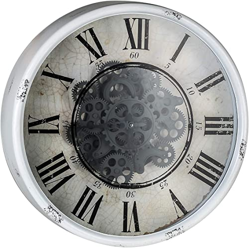 A B Home Vintage Gear Wall Clock