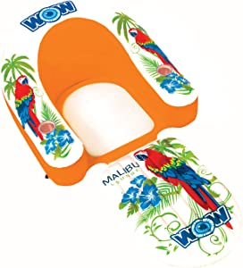 WOW World of Watersports, 14-2070, Malibu Lounge Chair, Inflatable, Floating, Ergonomic Head and Foot Rest, 1 Person