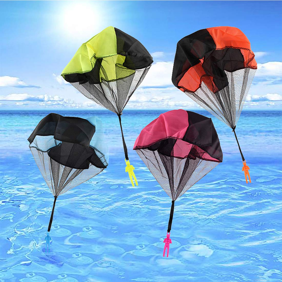 Huihui Decoration 7 Pieces Parachute Toys,Tangle Free Parachute Men Throwing Hand Throw Soldiers Toss It Up and Watching Landing Outdoor Parachute for Kids by Huihui Decoration (Image #5)
