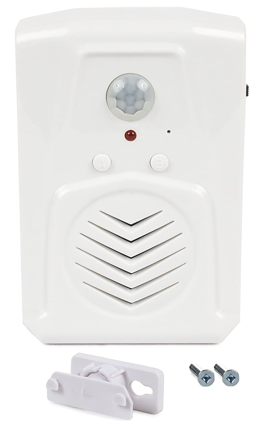 SierraTeck Motion Activated Voice Player - Recordable, Built-in Microphone  – Independent Living, Point of Sale Advertising, Door Greeter, Entry Alert