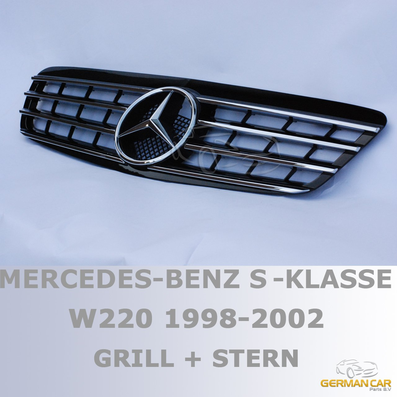 Chrom GermanCarParts GCP-220031 Grill 98-02 Schw