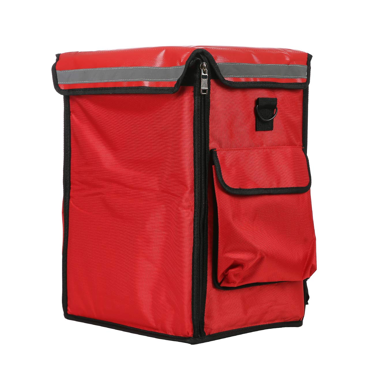 Food Delivery Backpack,Waterproof Insulated Bag, Layered Food Delivery Bag with Separation Plate, 14''×10.5''×20'' (Red)