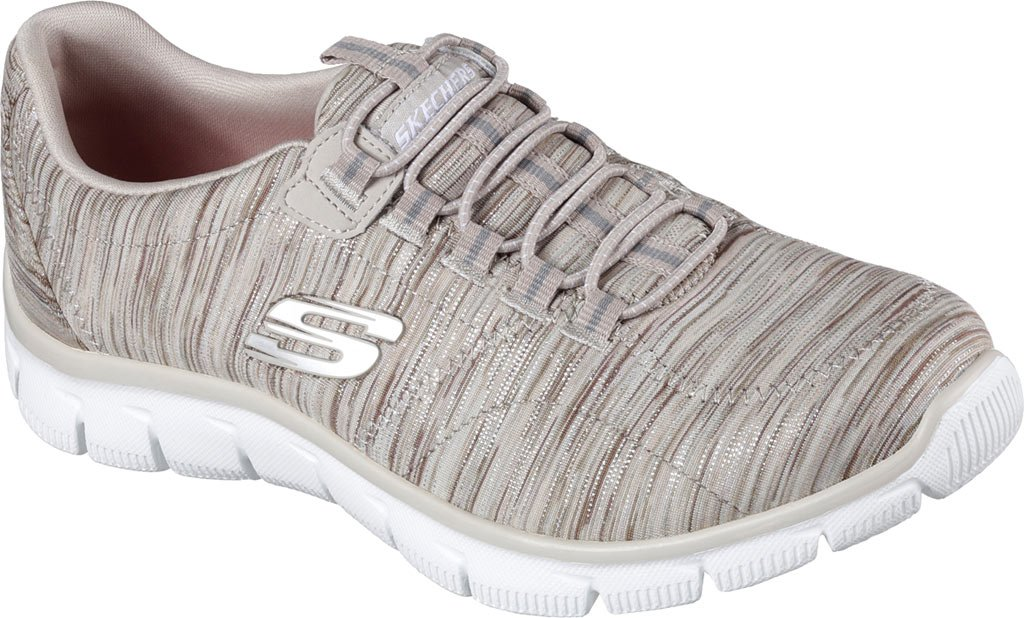 Skechers Women's Sport Empire - Rock Around Relaxed Fit Fashion Sneaker, Taupe, 8 C/D US