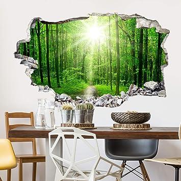 Kl Wall Art 3d Wandtattoo Wandsticker Sunny Forest Wd Al