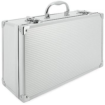 AR Carry Box/® Kleine Alubox Alukoffer Aluminium Koffer Werkzeugkoffer leer 260x210x80mm Alu//Schwarz