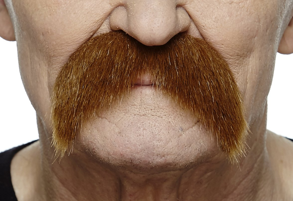 Mustaches Self Adhesive Fake Mustache, Novelty, Walrus False Facial Hair, Costume Accessory for Adults, Costume Accessory for Adults, Ginger Color