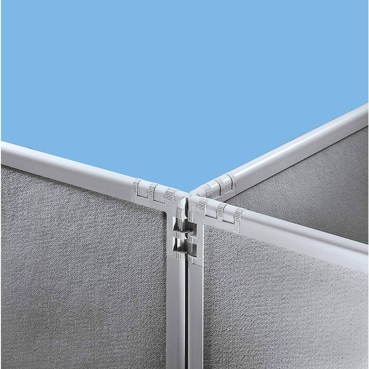 Dividir – plástico, Marco Gris Pizarra – blanco perla, H x L 1300 x 1300 mm – Dispositivo de delimitación mampara de separación paredes de separación separación de separación Dividir Dividir Industrial
