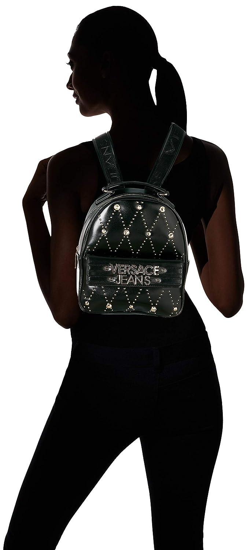 Versace Jeans - Ee1vsbbe7, Mochilas Mujer, Negro (Nero), 11x25x22 cm (W x H L): Amazon.es: Zapatos y complementos