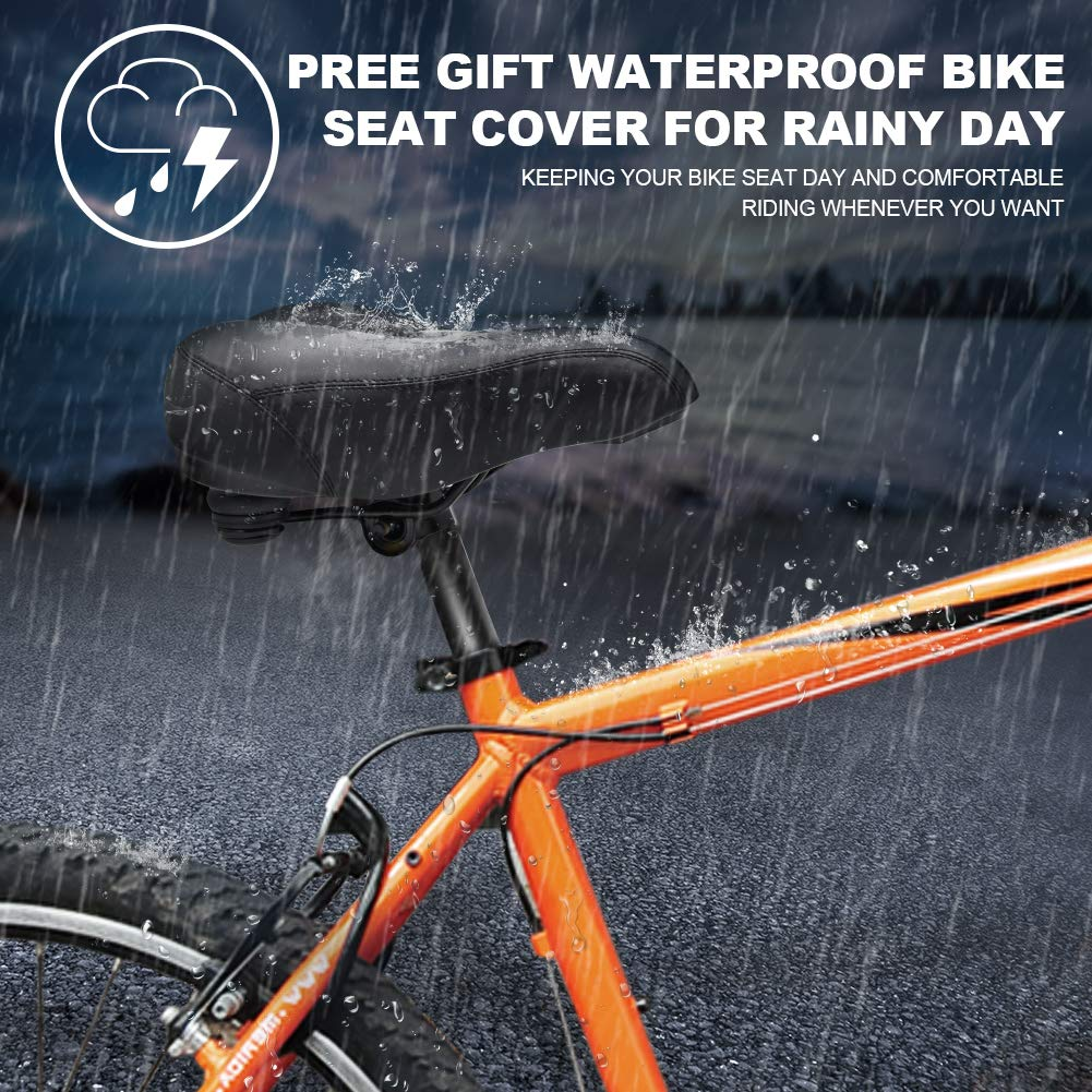 2X Waterproof Rainproof Bicycle Bike Saddle Cover Cycling Seat Protective Cover