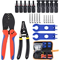 Hilitchi MC3 MC4 Solar Crimper for 2.5/4.0/6.0mm² Solar Panel PV Cable, Wire Stripper and Cutter, 10pcs MC4 Male Female…