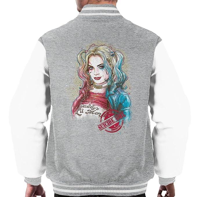 Harley Quinn Suicide Girl Mens Varsity Jacket: Amazon.es: Ropa y accesorios