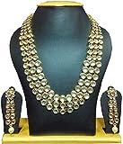 Karatcart Anushka Sharma Bollywood Inspired Traditional Kundan Pearl Necklace Set for Women