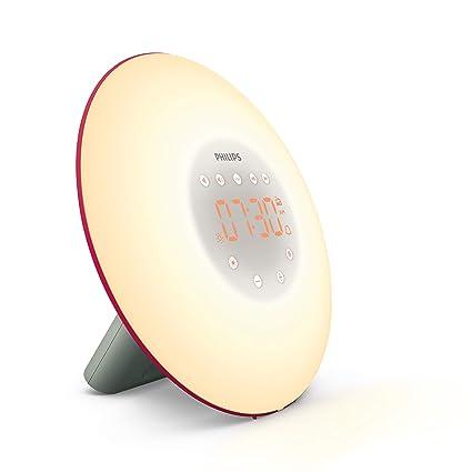 Philips Despertador HF3506/30 - Despertador de Luz LEZ, Radio FM, Simulación del Amanecer y del Atardecer, 2 Sonidos Naturales, 1 Alarma, 200 Lux, ...