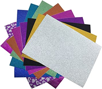 "Multicolor Holographic Foil Sheets 8.5/"" X 10/"" 20 Metallic Sheets//Pk Style 3"
