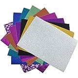10 x A4 Self Adhesive Gemstone Metallic Glitter Sign Vinyl Sticker Art Sheets