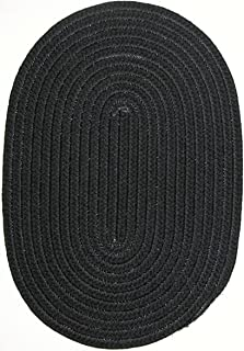 product image for Constitution Rugs Veranda 9' x 12' Oval Braided Rug Black