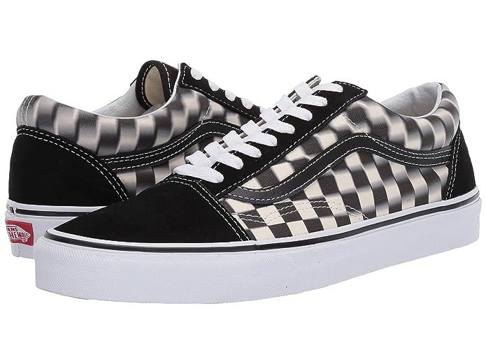 Vans Old Skool Sneaker Damen Herren Kinder Unisex schwarz weiß kariert verschwommen