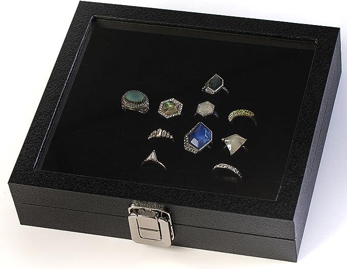 36 Slots Ring Storage Ear Pin Display Box Jewelry Organizer Holder Display Case