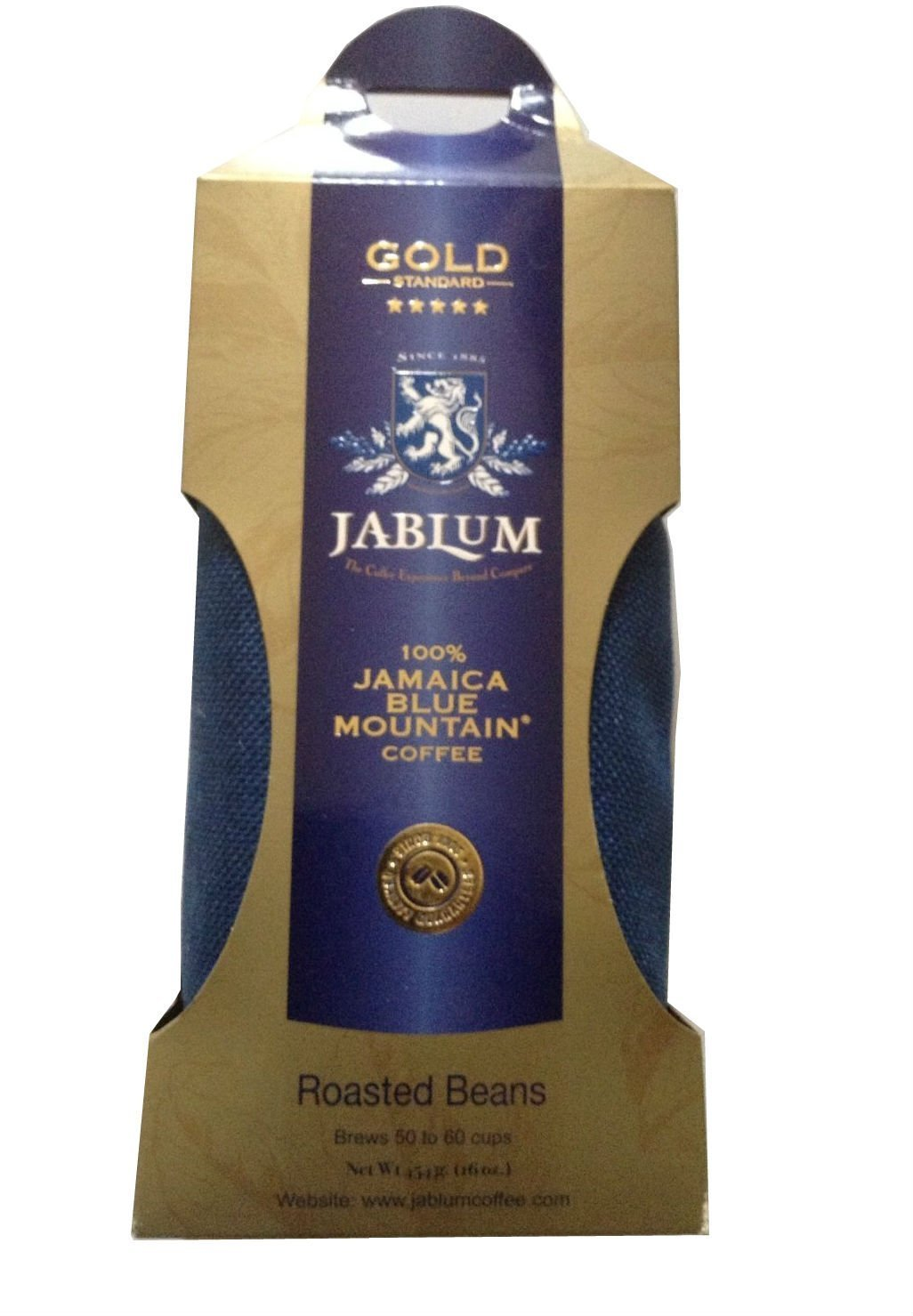 Jamaica Blue Mountain Coffee Beans - Jablum Gold Standard (16oz) by JABLUM