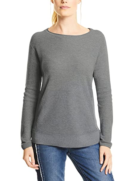 Cecil 10150 300417 silver Melange X Small Gris Pull Femme rrYCqH