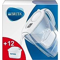 BRITA Waterfilter Marella wit incl. 12 MAXTRA + filterpatronen - BRITA Filterstartpakket om kalk, chloor, lood, koper en…