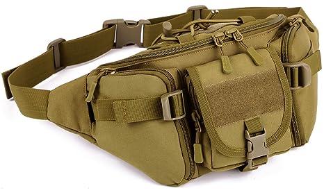 Nylon Waist Fanny Pack Belt Sport Tactical Military Hiking Water Bottle Bag LT