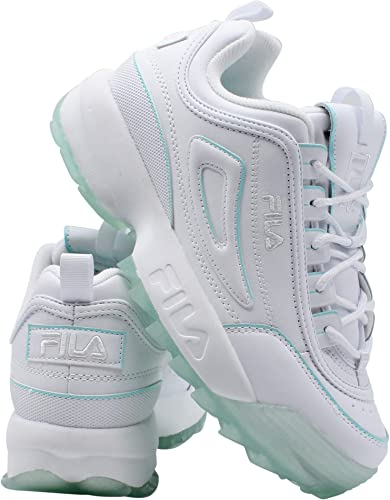Fila Kids Disruptor II Ice Pack - Zapatillas Deportivas para niños, (Blanco, Azul (White/Aruba Blue)), 39 EU: Amazon.es: Zapatos y complementos