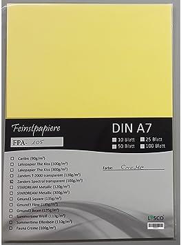 50 Feuilles Format A7 Zanders Spectral Papier 100 G M Couleur Creme Transparent Excellente Examen De Tres Bonne