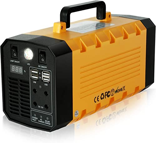 288Wh Portable Power Station 75000mAh, Outdoor Solar Generator Lithium-ion Batteries 500Watt Backup Power with 110V AV 12V DC 4 USB Ports and More for Camping Adventure Trips Solar Panel Optional