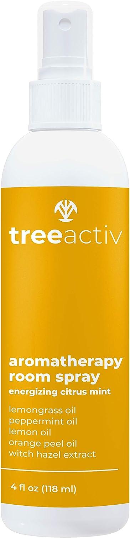 TreeActiv Aromatherapy Room Spray Air Freshener   Citrus Mint Home & Office Deodorizer   Orange & Lemon Odor Eliminator & Neutralizer   Fragrant Mist with Lemongrass & Witch Hazel   1000+ Sprays