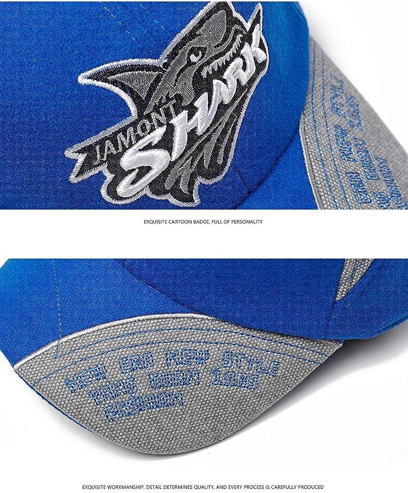 Xinqiao Jungen M/ädchen Baseball Kappen Stickerei Hai Einstellbar H/üte zum Kinder