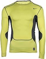 Nike Men's Dri-Fit Pro Combat Compression Training Shirt-Yellow