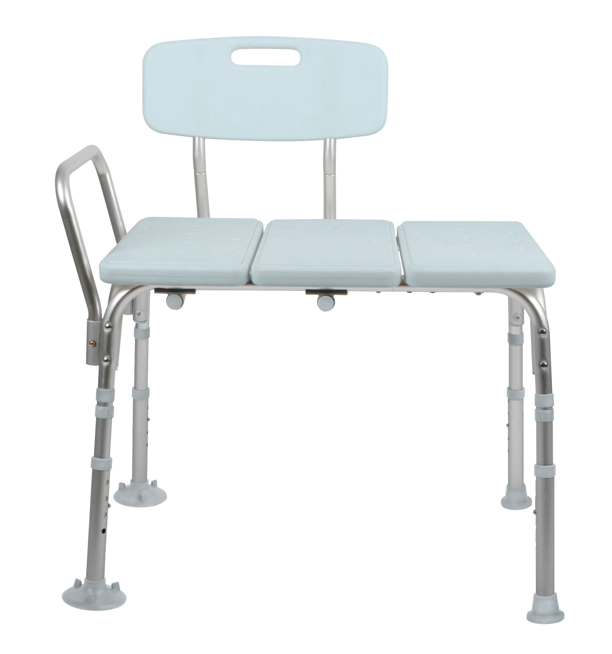 Medline Microban Medical Transfer Bench with Antimicrobial Protection for Bath Safety, Shower Use, and Bacterial Protection