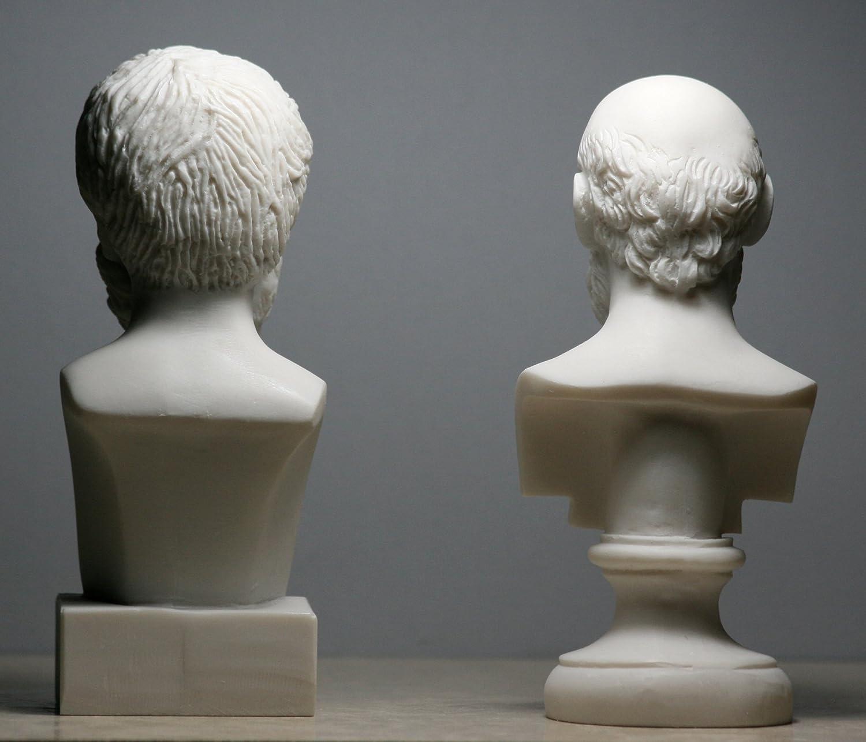 Socrates /& Aristotle Greek Philosopher Bust Head Set Statue Sculpture
