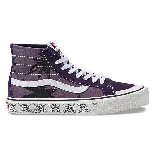6e2e001458 Vans Sk8-Hi 138 Decon Sf Black Plum Mysterioso Skate Casual 11