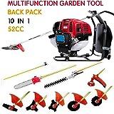 CHIKURA Backpack 10 in 1 Multi garden Brush Cutter whipper snipper chain saw hedge trimmer
