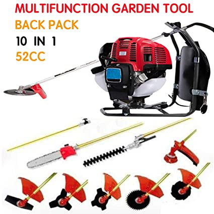Tools Garden Power Tools 2 Stroke 1.75kw 52cc Garden Hedge Trimmer 5 In 1 Petrol Strimmer Chainsaw Brush Cutter Multi Tool 52cc