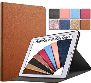 DuraSafe Cases for iPad Mini 3 / Mini 2 / Mini 1-7.9 Inch [ A1432 A1454 A1455 A1489 A1490 A1491 A1599 A1600 ] Smart Cover Slim Folio, Auto Sleep/Wake - Brown (Tree)