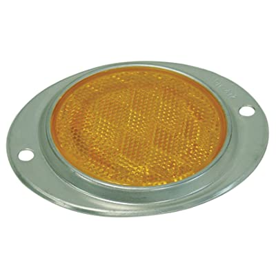 "3"" AMBER STRATOLITE SAE-A NO.38 ALUMINUM OVAL REFLECTOR WITH TWO MOUNTING HOLES.: Automotive"